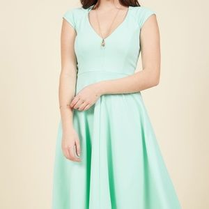 Name the Date A-Line Dress in Mint